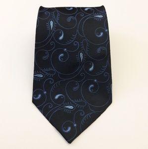 Alfani Men's 100% Silk Blue Necktie